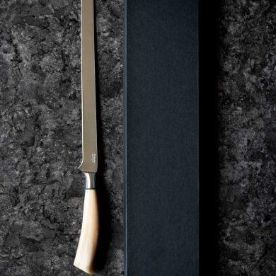 coltello da prosciutto con manico in corno di bue 2