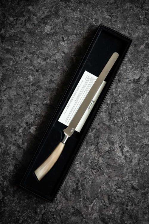 coltello da prosciutto con manico in corno di bue